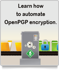 Automate OpenPGP encryption, GoAnywhere Director